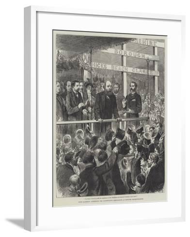 Lord Salisbury Addressing the Conservative Associations at Newport, Monmouthshire--Framed Art Print