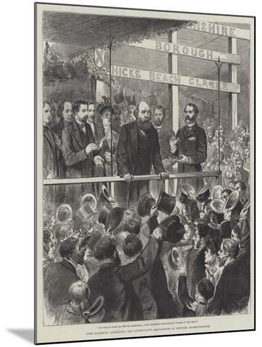 Lord Salisbury Addressing the Conservative Associations at Newport, Monmouthshire--Mounted Giclee Print