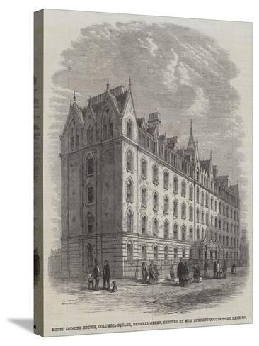 Model Lodging-Houses, Columbia-Square, Bethnal-Green, Erected by Miss Burdett Coutts--Stretched Canvas Print