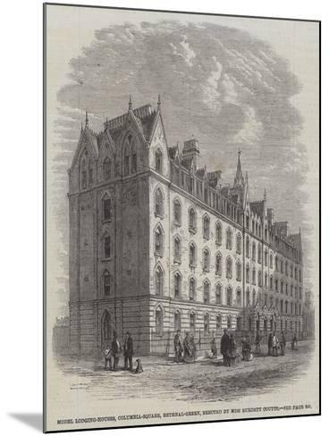Model Lodging-Houses, Columbia-Square, Bethnal-Green, Erected by Miss Burdett Coutts--Mounted Giclee Print