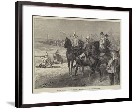 Mounted Volunteer Riflemen Shooting at Wimbledon for Colonel Loyd-Lindsay's Prize--Framed Art Print
