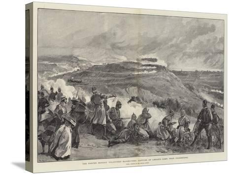 The Easter Monday Volunteer Manoeuvres, Capture of Caesar's Camp, Near Folkestone--Stretched Canvas Print
