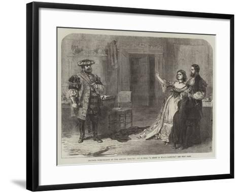 Amateur Performance at the Adelphi Theatre, Scene from A Sheep in Wolf's Clothing--Framed Art Print