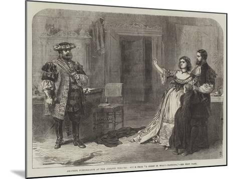 Amateur Performance at the Adelphi Theatre, Scene from A Sheep in Wolf's Clothing--Mounted Giclee Print