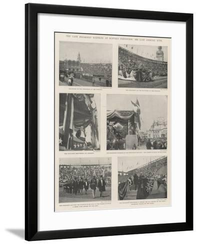 The Late President Mckinley at Buffalo Exposition, His Last Official Acts--Framed Art Print