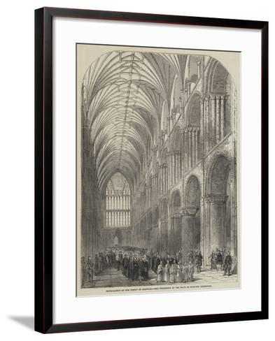 Installation of the Bishop of Norwich, the Procession in the Nave of Norwich Cathedral--Framed Art Print
