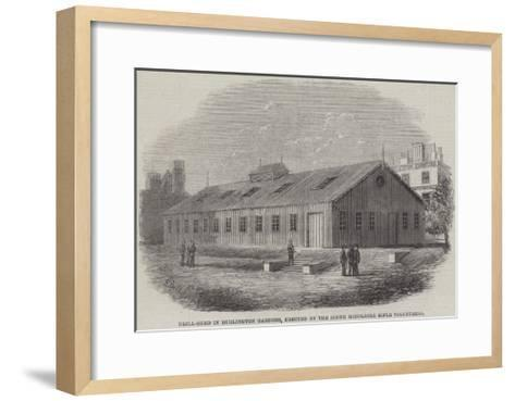 Drill-Shed in Burlington Gardens, Erected by the South Middlesex Rifle Volunteers--Framed Art Print