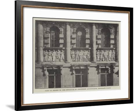 Part of Frieze of the Institute of Chartered Accountants, Moorgate Place--Framed Art Print