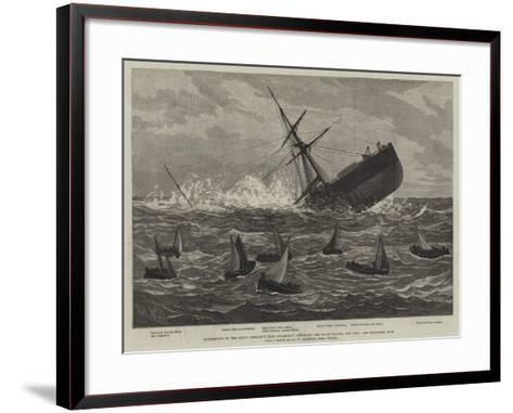 Foundering of the Union Company's Mail Steam-Ship American, the Boats Leaving the Ship--Framed Art Print