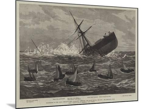 Foundering of the Union Company's Mail Steam-Ship American, the Boats Leaving the Ship--Mounted Giclee Print