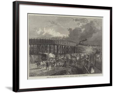 Works of the Midland Railway at King'S-Cross, Temporary Bridge, Old St Pancras-Road--Framed Art Print