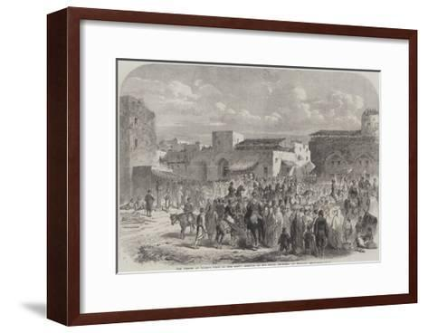 The Prince of Wales's Visit to the East, Arrival of His Royal Highness at Beyrout--Framed Art Print