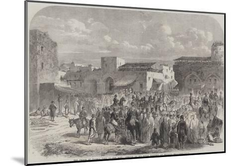 The Prince of Wales's Visit to the East, Arrival of His Royal Highness at Beyrout--Mounted Giclee Print