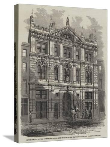 Newly-Erected Offices of the Peninsular and Oriental Steam Navigation Company, Leadenhall-Street--Stretched Canvas Print