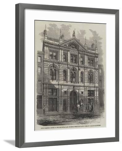 Newly-Erected Offices of the Peninsular and Oriental Steam Navigation Company, Leadenhall-Street--Framed Art Print