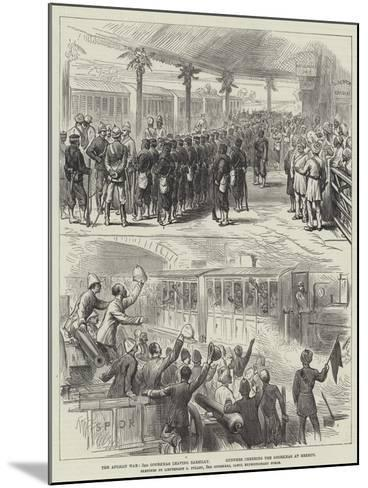 The Afghan War, 3rd Goorkhas Leaving Bareilly, Gunners Cheering the Goorkhas at Meerut--Mounted Giclee Print