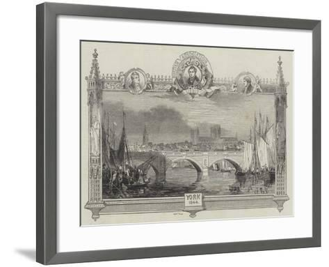 Great Meeting of the British Association for the Advancement of Science at York--Framed Art Print