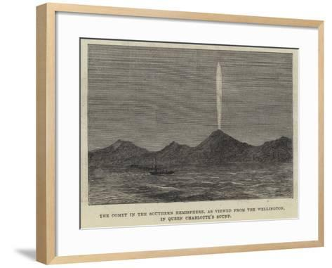 The Comet in the Southern Hemisphere, as Viewed from the Wellington, in Queen Charlotte's Sound--Framed Art Print