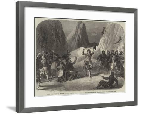 Scene from Rip Van Winkle, at the Adelphi Theatre, Rip Van Winkle Drinking the Magic Draught--Framed Art Print