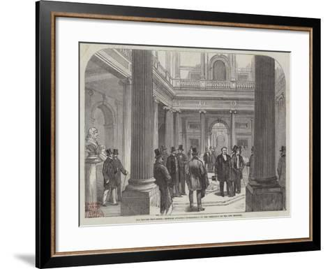 The Reform Club-House, Members Awaiting Intelligence of the Formation of the New Ministry--Framed Art Print
