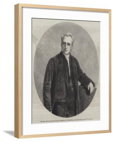 The Reverend William Wood Stamp, President of the Wesleyan Methodist Society for 1860-61--Framed Art Print
