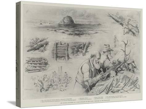 The Recent Discovery of a Lake-Dwelling on the Clyde, Sketches of the Excavation--Stretched Canvas Print