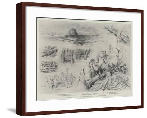 The Recent Discovery of a Lake-Dwelling on the Clyde, Sketches of the Excavation--Framed Art Print