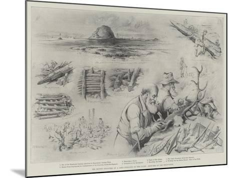 The Recent Discovery of a Lake-Dwelling on the Clyde, Sketches of the Excavation--Mounted Giclee Print