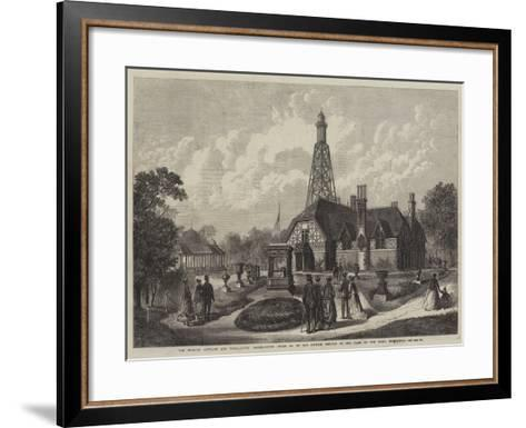 The English Cottage and Terra-Cotta Boiler-House (Class 65) in the British Section of the Park of t--Framed Art Print