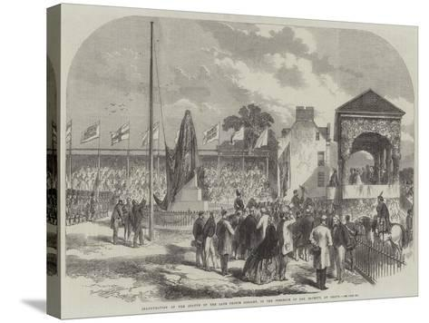 Inauguration of the Statue of the Late Prince Consort, in the Presence of Her Majesty, at Perth--Stretched Canvas Print