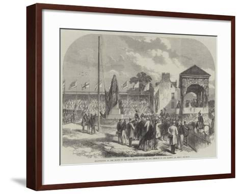 Inauguration of the Statue of the Late Prince Consort, in the Presence of Her Majesty, at Perth--Framed Art Print