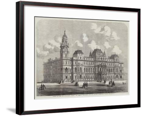 Design for the New Government Offices, the Foreign Department (Coe and Hofland, Architects)--Framed Art Print
