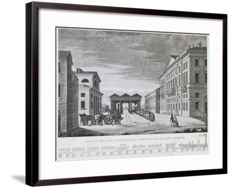 The Railway Line from Milan to Monza, Lombardy's First Railroad, 1840, Italy, 19th Century--Framed Art Print