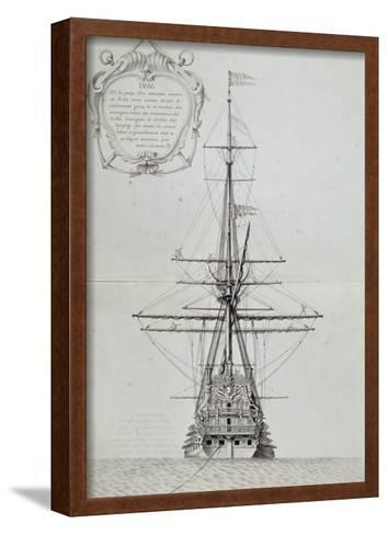 View of Stern of Vessel at Anchor, from Atlas De Colbert, France, 17th Century--Framed Art Print