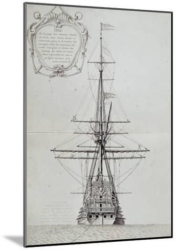 View of Stern of Vessel at Anchor, from Atlas De Colbert, France, 17th Century--Mounted Giclee Print