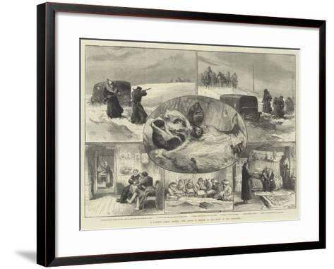 A Journey across Siberia, Our Artist in Search of the Crew of the Jeannette--Framed Art Print