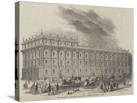 The New Facade of the Privy Council Office, Whitehall, Designed by Barry--Stretched Canvas Print
