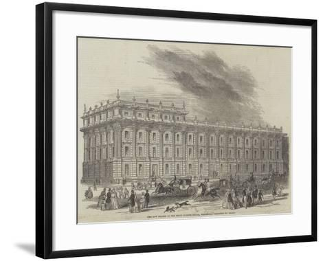 The New Facade of the Privy Council Office, Whitehall, Designed by Barry--Framed Art Print