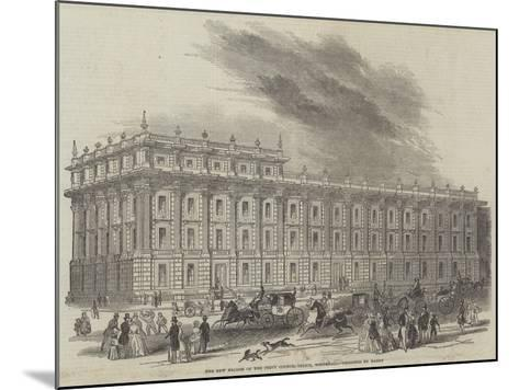 The New Facade of the Privy Council Office, Whitehall, Designed by Barry--Mounted Giclee Print