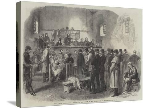 The Fenian Insurrection, Inquest on Mr Cleary in the Courthouse at Kilmallock--Stretched Canvas Print