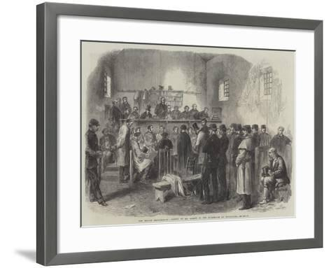 The Fenian Insurrection, Inquest on Mr Cleary in the Courthouse at Kilmallock--Framed Art Print