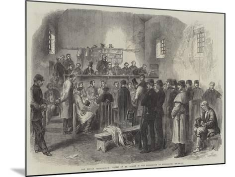 The Fenian Insurrection, Inquest on Mr Cleary in the Courthouse at Kilmallock--Mounted Giclee Print