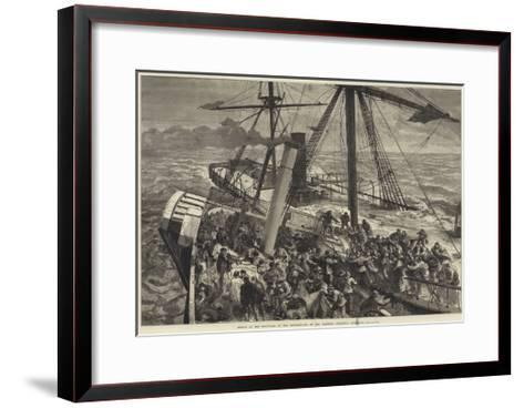 Rescue of the Survivors of the Deutschland by the Harwich Steam Tug Liverpool--Framed Art Print