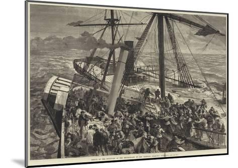 Rescue of the Survivors of the Deutschland by the Harwich Steam Tug Liverpool--Mounted Giclee Print