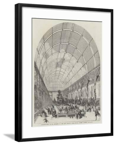 Conservatory to Be Attached to the New Italian Opera-House, Covent Garden--Framed Art Print
