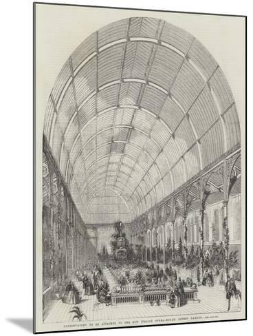Conservatory to Be Attached to the New Italian Opera-House, Covent Garden--Mounted Giclee Print