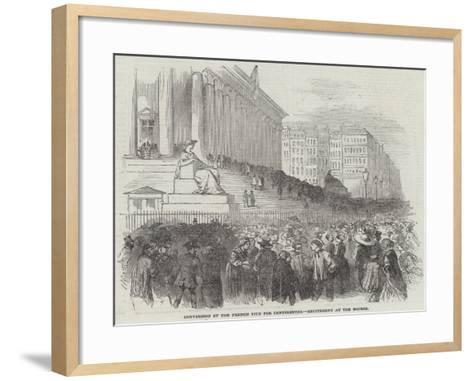 Conversion of the French Five Per Centsrentes, Excitement at the Bourse--Framed Art Print