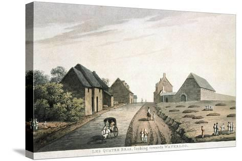 Les Quatre Bras, Looking Towards Waterloo, Published by R. Bowyer, 1815 (Colour Aquatint)--Stretched Canvas Print