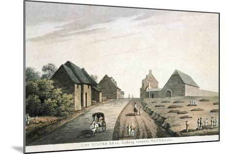 Les Quatre Bras, Looking Towards Waterloo, Published by R. Bowyer, 1815 (Colour Aquatint)--Mounted Giclee Print