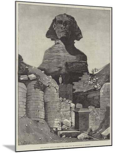 The Egyptian Sphinx at Ghizeh, Near Cairo, with the Excavations in Progress--Mounted Giclee Print